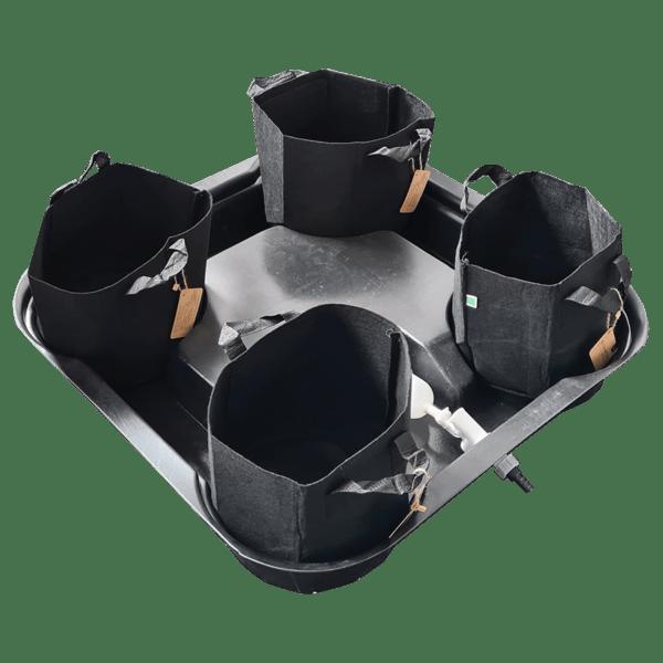 Mega Pot – 4 Pot system-16L fabric pots